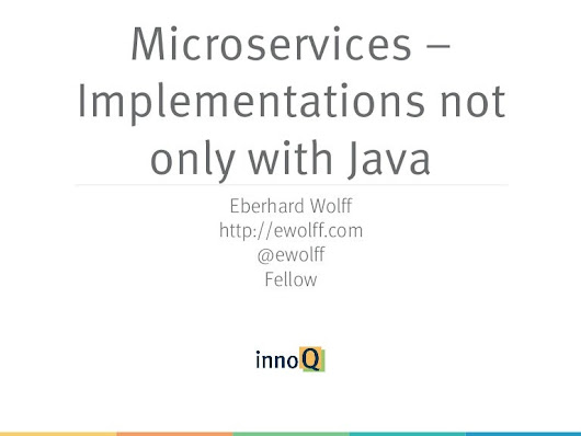 Microservices - not just with Java