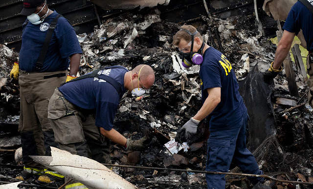 Investigators combing through wreckage from UPS flight 1354