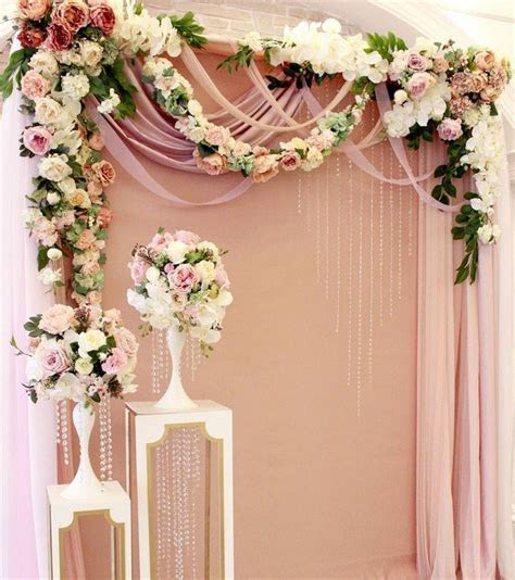 flowers decorated wedding backdrop ideas for ceremony   Oh