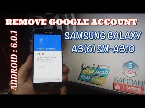 REMOVE FRP SAMSUNG GALAXY A3 2016 ANDROID 6 0 1 BYPASS