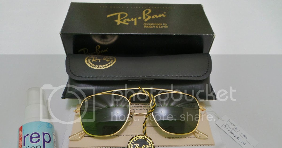 b5aa26ef9f Vintage Bausch   Lomb Rayban Sunglasses  (SOLD)A3172A NOS Ray Ban Classic  Collection 5 w Brace Arista G-15 Lenses(SOLD)