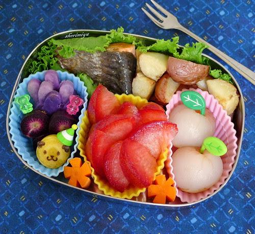 Salmon and Potatoes Bento by sherimiya ♥