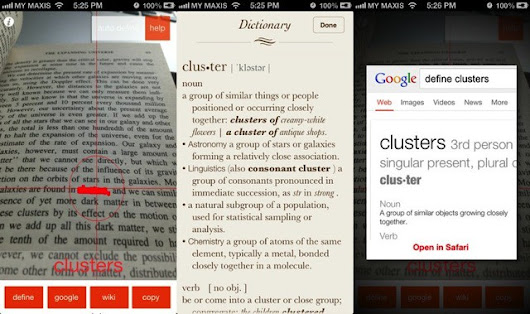Meanings: Dictionary Lookup For Paper Books Using The iPhone's Camera | Cult of Mac