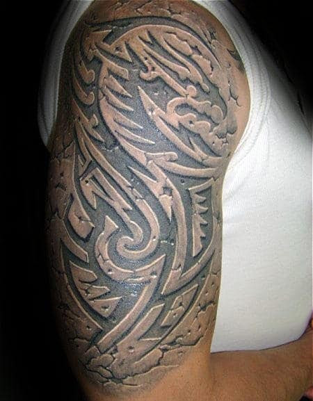 60 3d Tribal Tattoos For Men Masculine Design Ideas