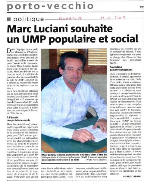 Marc Eugène Luciani, maire