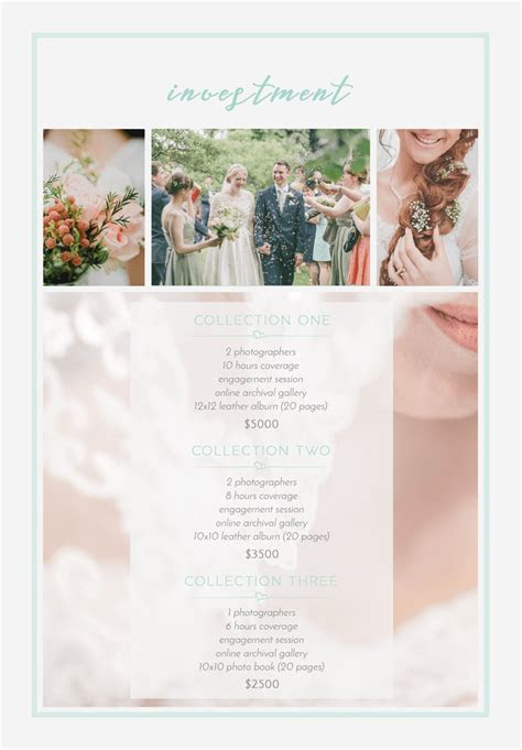FREE Pricing Guide Template for Wedding Photographers