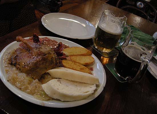 Brno, Švejk étterem, egy fogás