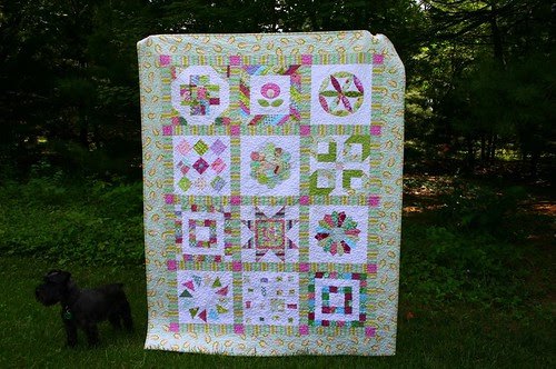 Quilting Diva's VQBee Quilt - finished