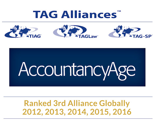 TIAG - TAG Alliances Ranked in Top Three Accounting Alliances Globally