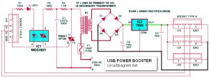 USB Power Booster Circuit Diagram