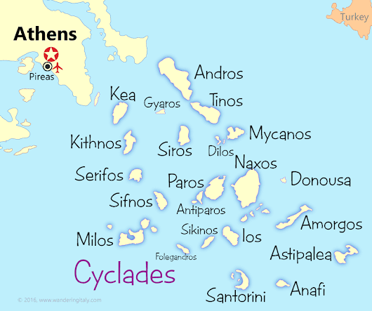 Cyclades Islands Map and Guide