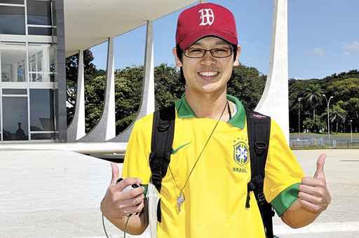 O japonês Takashi Ono teve dificuldade com a língua nas atrações