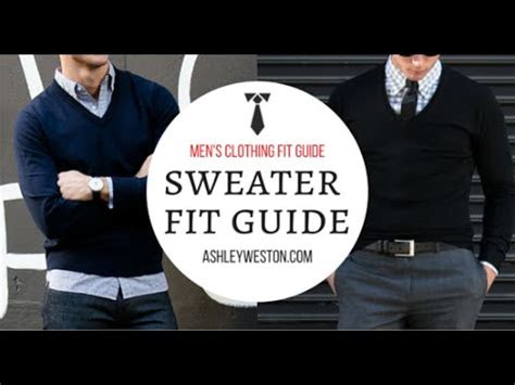 sweater fit mens clothing fit guide