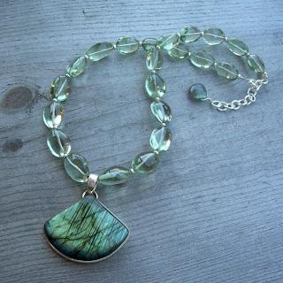 prasiolite labradorite necklace