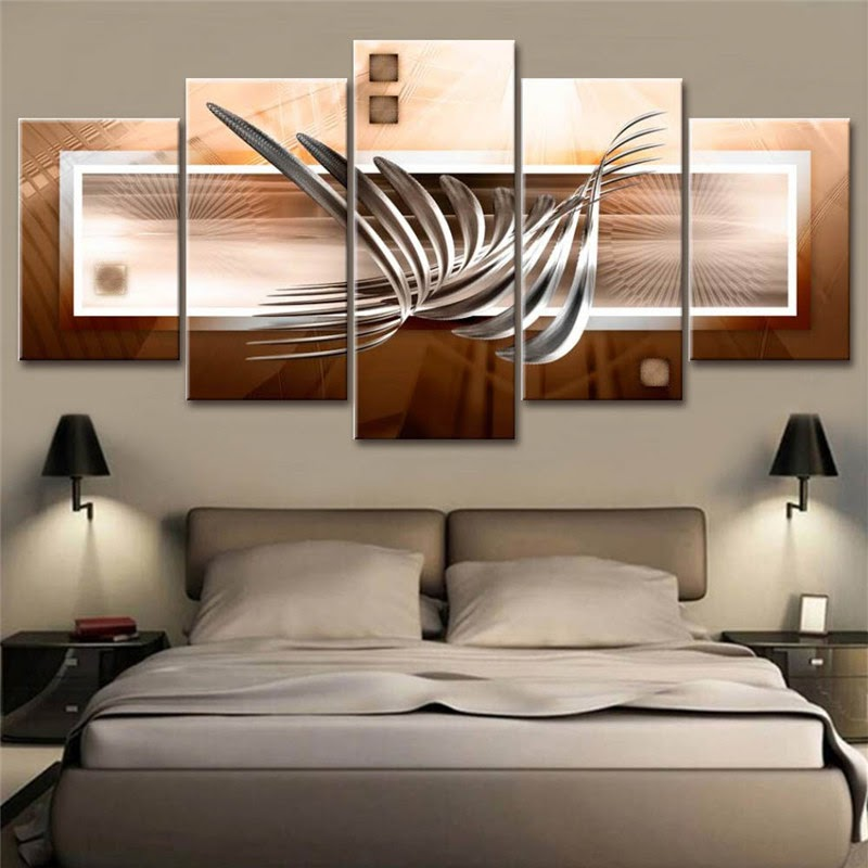 Cool Bedroom Modern Wall Art Painting wallpaper