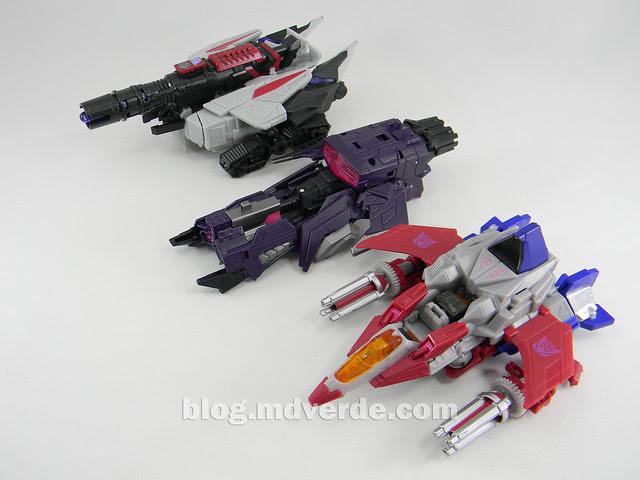 Transformers Starscream Deluxe - Generations Fall of Cybertron - modo alterno vs Shockwave vs Megatron