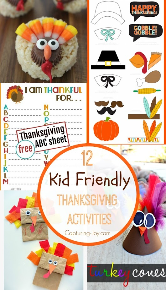 12 Thanksgiving Activities for Kids - Kid Friendly Printable Activities