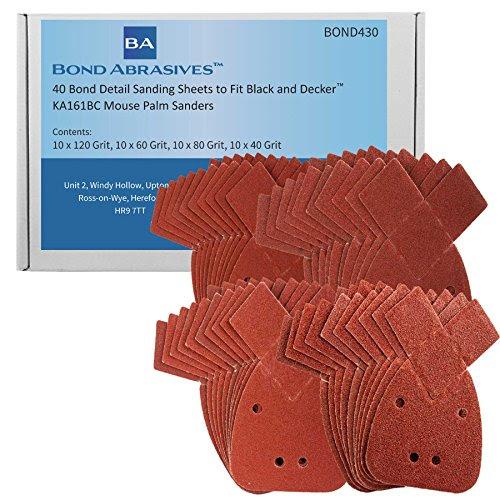 10 Mouse Sanding Sheets to Fit Black /& Decker Detail Sander KA160//1 60 grit DIY