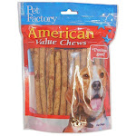 Pet Factory 28750 American Beefhide Chicken Flavored Munchie Roll, 40-pack