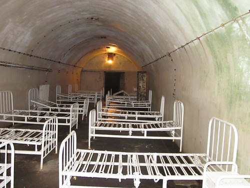 Nazi underground hospital Guernsey. Built with slave labour.
