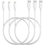 [3 Pack] Anker PowerLine Lightning Cable (3ft) Apple MFi Certified