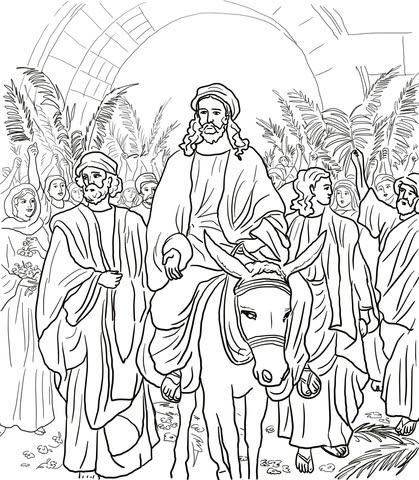ausmalbilder jesus - calendar june