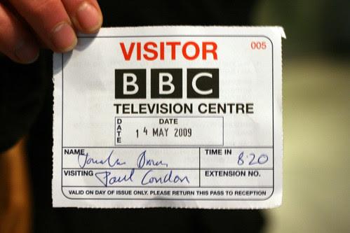 BBC  visitor pass