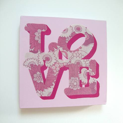 Bonboo - Love canvas collage picture