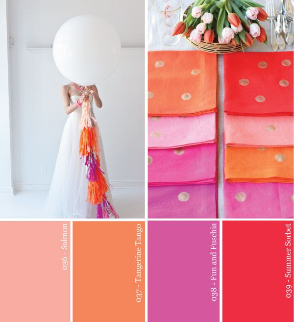Have a fun summer wedding with these bright, punchy sorbet colors