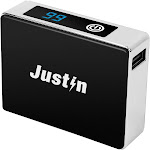 Justin Power Bank with LCD - Black