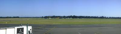 Photo of Christchurch International Airport, Canterbury Aero Club and the Southern Alps in Christchurch, New Zealand, taken on 2009-04-21