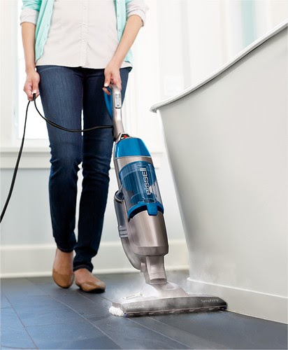 BISSELL - Symphony Bagless 2-in-1 Upright Vacuum/Steam Mop