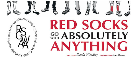 Red Socks Go With Absolutely Anything {Give Away} - Albertamamas.com
