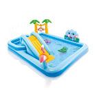 Intex Jungle Adventure Play Center Inflatable Kiddie Spray Wading Pool