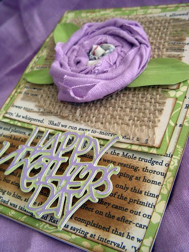 Fabric Flower Mother's Day Card Angle