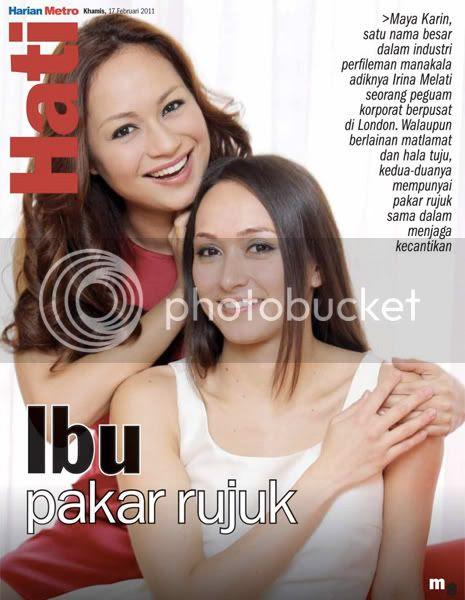 maya karin adik irina melati Gambar: Maya Karin & Adiknya, Irina Melati Berkongsi Rahsia Kecantikan