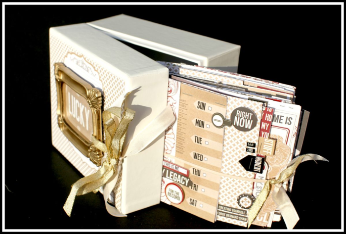 LUCKY BOOK BOX COVER WITH FULL VIEW OF BOOK INSIDE