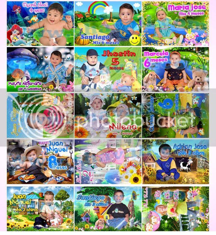 fotmontajes niños caricaturas peliculas
