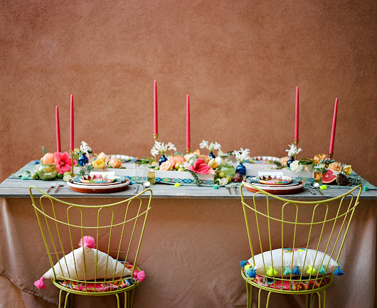 Modern Mexican wedding inspiration Modern invites, festive colors, and tons of tassels (which we can teach you ho… http://t.co/S726hjS8p2