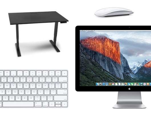 Find Your Most Productive Self with This Epic Workstation: Apple Thunderbolt Display, Stand Up Desk & More!