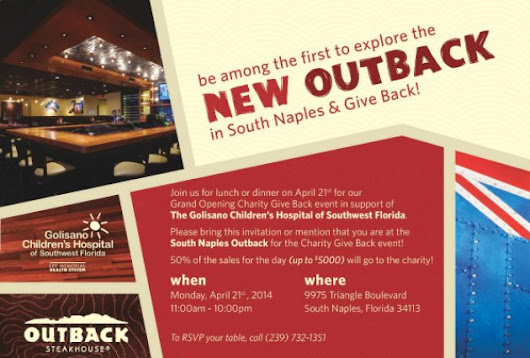 You're Invited- Outback Steakhouse Grand Opening In South Naples #OutbackBestMates | Makobi Scribe