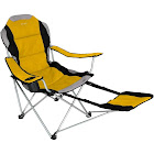 Xscape Sportline - XL Quad-Fold Chair w/ Footrest - Black-Color:Yellow