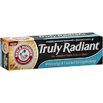 Arm & Hammer Truly Radiant Toothpaste, Fluoride Anticavity, Bright & Strong, Crispy Mint - 4.3 oz
