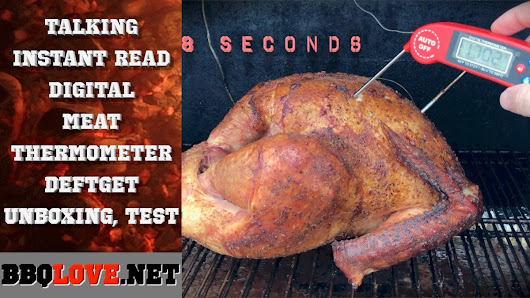 Talking Instant Read Digital Meat Thermometer | Unboxing, Test