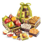 Fresh Fruit and Snack Premium Gift Tower by 1-800-Baskets - Gift Basket Delivery