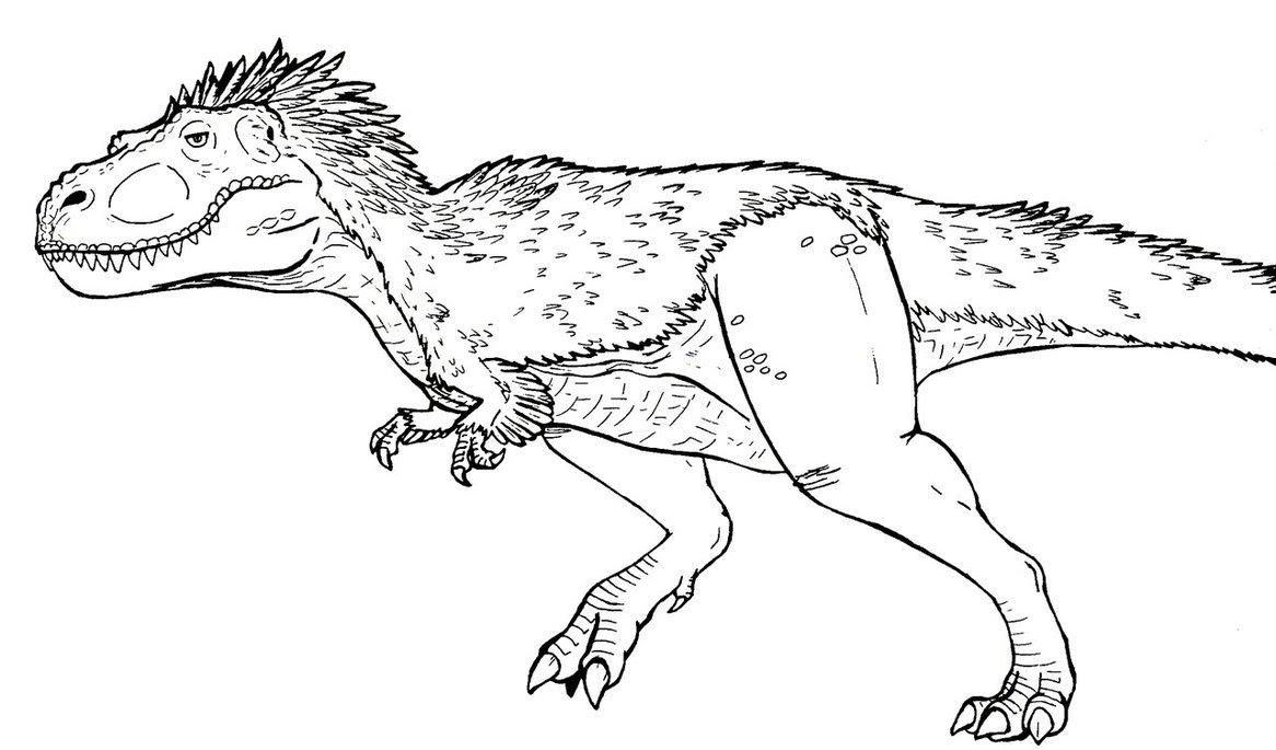 Coloriage  imprimer Animaux Dinosaures T rex numéro