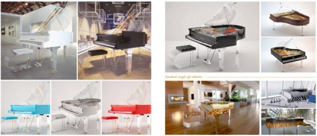 Amazing Line Of Transparent Pianos By A Famous Piano Brand
