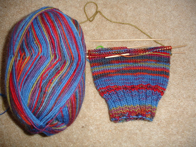 Christmas stripes WIP (1)