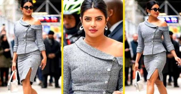 Desi girl Priyanka Chopra is looking stunning in her Black& silver dress designed by Ralph and Russo! Pic inside