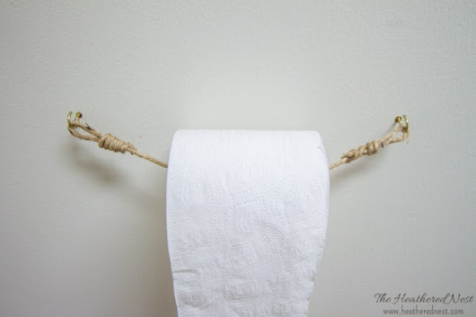 DIY and Inexpensive Toilet Paper Holder Ideas - Back to Basics Series | Heathered Nest | Rule Your Roost . Dress Your Nest . Ruffle Some DIY Feathers